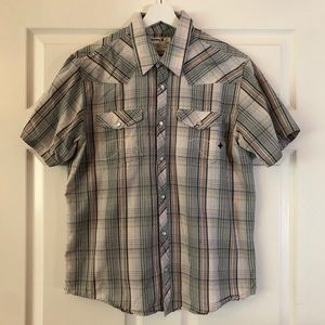 Hurley Short Sleeve Button Down Shirt. Sz Large